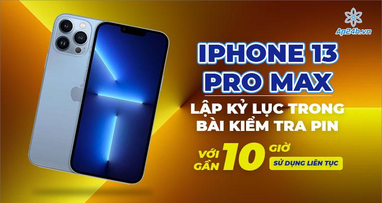 iPhone 13 Pro Max có dung lượng pin ấn tượng