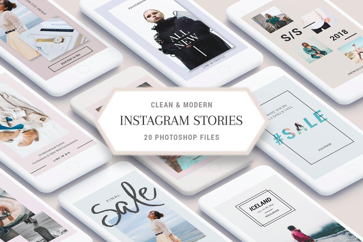 Clean & Modern Instagram Stories Pack