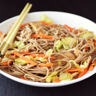 Healthy Ramen with Sesame and Fresh Vegetables Recipe