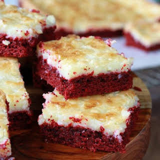 Red Velvet Gooey Butter Cake.