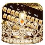 Gold diamond crown Keyboard Theme Icon
