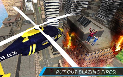 Real City Police Helicopter Games: Rescue Missions 4.0 screenshots 8