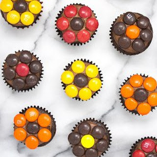 Fall Daisy Mini Cupcakes.