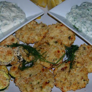 Golden Crunchy Fish Cakes With Creamy Dill Sauce.