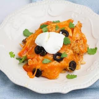Instant Pot Chicken Enchilada Casserole.