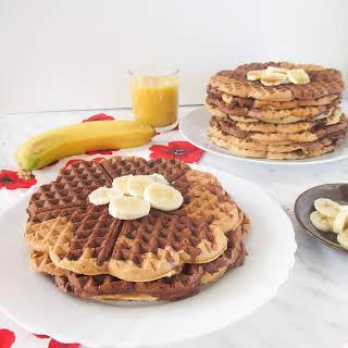 Banana Brownie Marble Waffles.