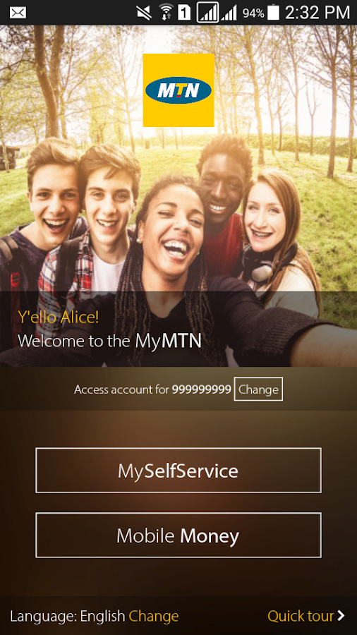 MyMTN- screenshot