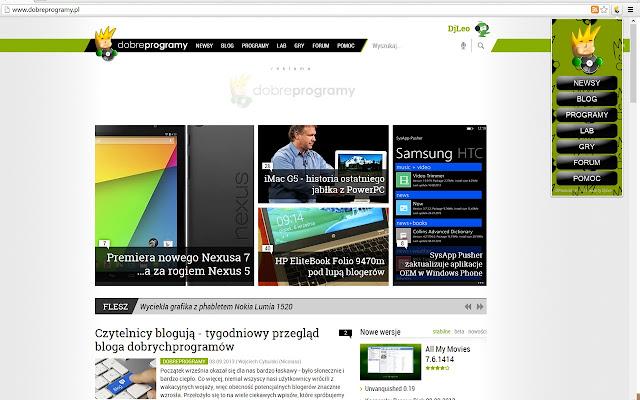 DPmaniak - szybkie menu portalu dobreprogramy