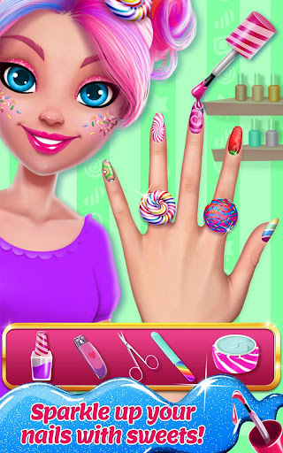 Candy Makeup Beauty Game - Sweet Salon Makeover apkpoly screenshots 3