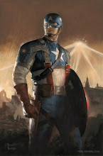 """Photo: CAPTAIN AMERICA: FIRST VENGEANCE #1 Cover. 2010. Gouache and acrylic on bristol board, 11 x 17""""."""
