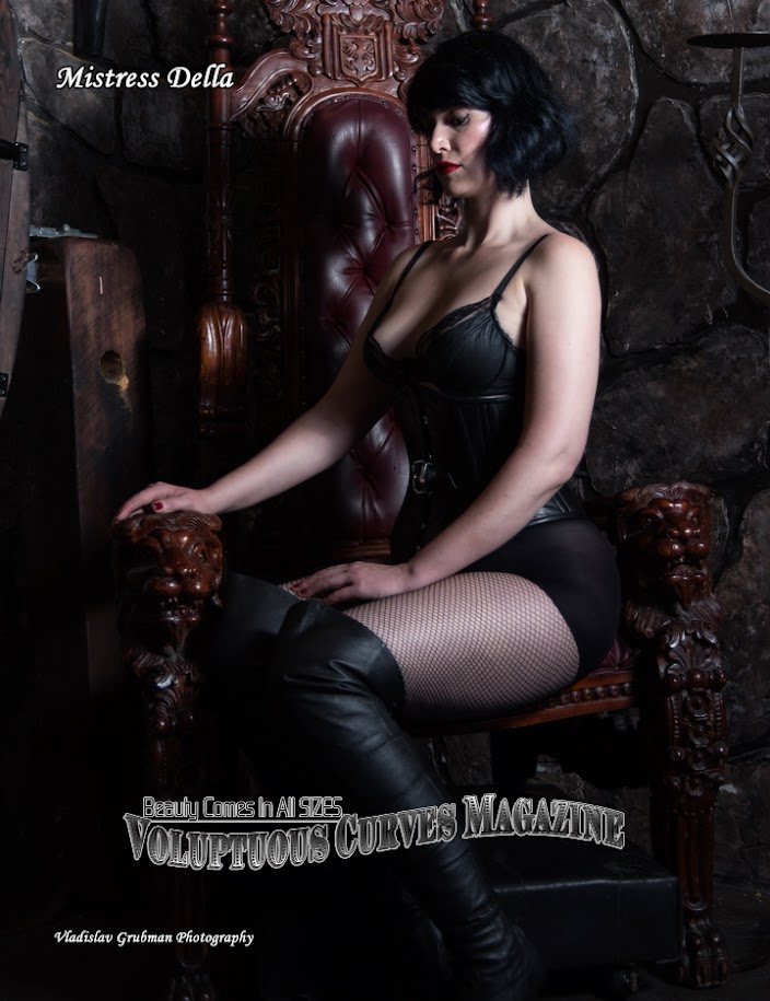 "Mistress Della from Pandora""s Box - published in Voluptuous Curves Magazine - photography by Vlad Grubman / ZealusMedia.com"