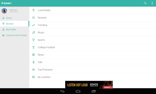 TuneIn Radio - Radio & Music - screenshot thumbnail