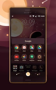 Moon Cat Xperia Theme- screenshot thumbnail