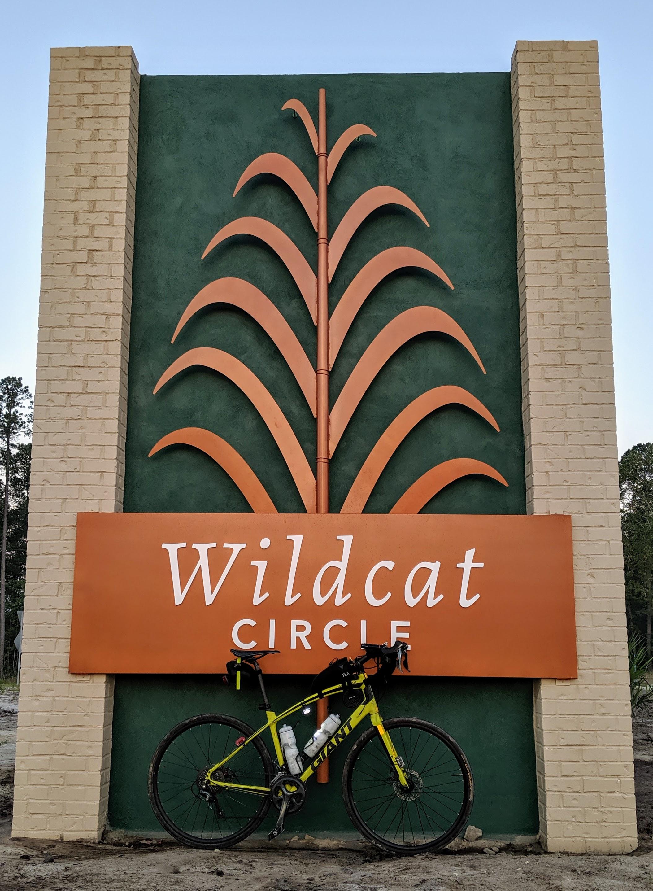 Wildcat Circle Sign