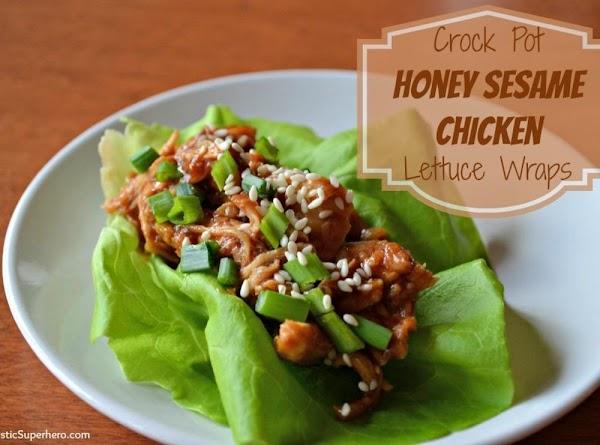 Crock Pot Honey Sesame Chicken Lettuce Wraps Recipe