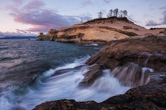 Photo: This one was taken at the end of a 5 day marathon with +Jeremy Cramduring this past summer. We started out spending two days in the Three Sisters / Bend area and then ran up to Mount Ranier National Park to meet up with +Dustin Gent and +Brian Kibbons. We ended the trip with a quick sunset shoot at Cape Kiwanda. This was a great ending to a week of shooting for me, but sadly +Jeremy Cramand +Brian Kibbonswere tortured by listening to my singing on the drive home. What can I say? I need to stay awake somehow.