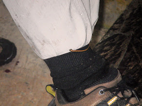 Photo: A Leech just above the sock