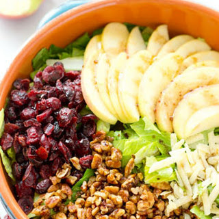 Bistro Fall Salad with Apples, Candied Pecans + Maple Balsamic Dressing
