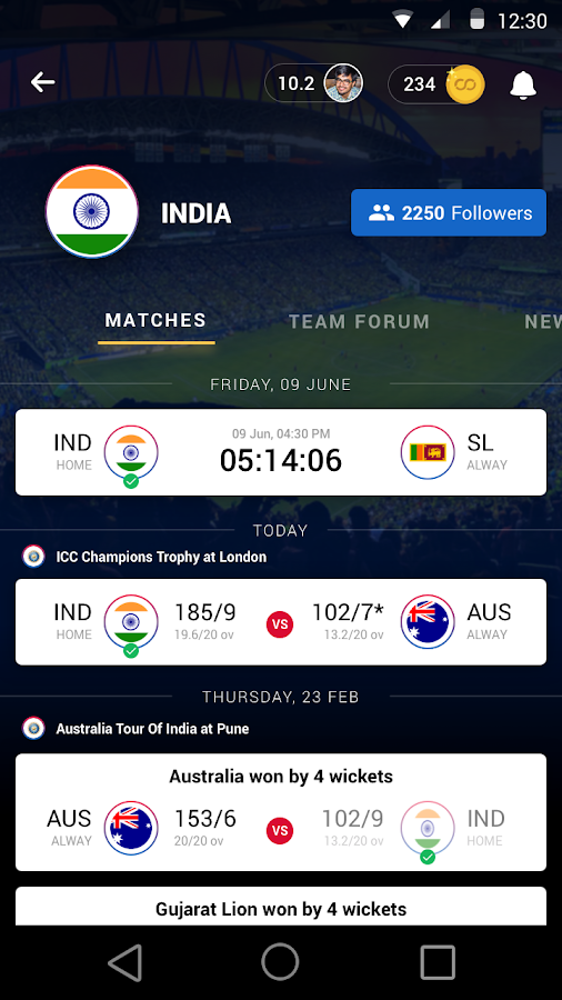 Rooter- Live Match Prediction Game, Score & Chat- screenshot