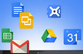 Floating Google apps image