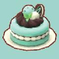 チョコミントなケーキ