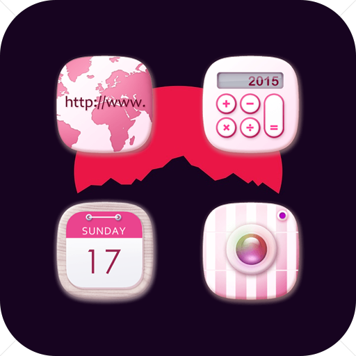 Flowerwhisper Cute Fresh Pink Lady Icon Pack
