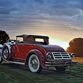 Morning At The Concours by JEFFREY LORBER - Transportation Automobiles ( rust 'n chrome, vintage car, atlanta concours, classic car, lorberphoto, duesenberg, phaeton )