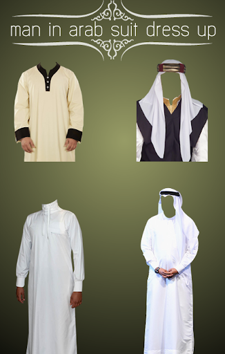 man in arab suit dress up