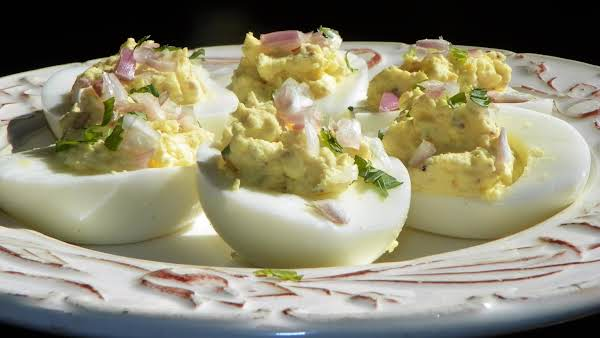 Deviled Eggs With Stoneground Dijon Moutarde