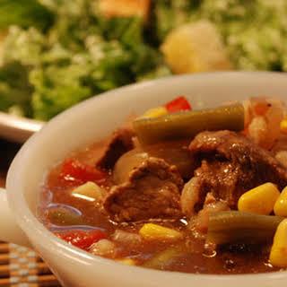 Slow Cooker Vegetable Beef Barley Soup.
