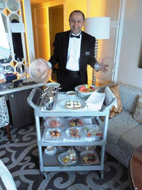Engin, our Turkish butler on Crystal Serenity.
