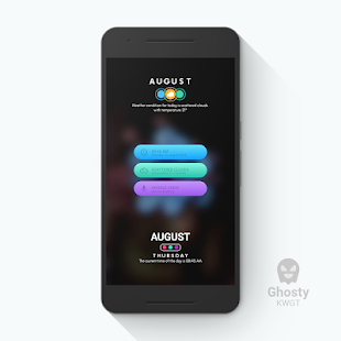 Ghosty KWGT Screenshot