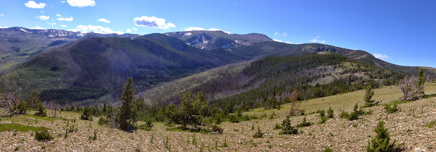 Photo: This is the basin that I walked around - Red Mountain in distance.