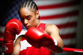 Photo: U.S. Olympic lightweight boxer Queen Underwood, 27, of Seattle, Washington. Underwood will be competing for her fifth title. Photo by: Marc Piscotty, Freelance photographer