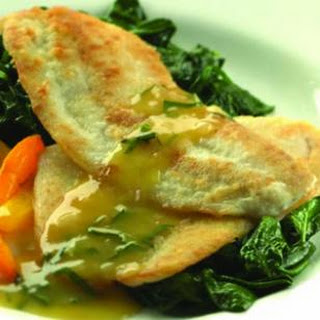 Sauteed Haddock with Orange-Shallot Sauce.