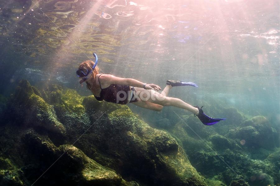 Snorkeling beauty by Richard ten Brinke - Sports & Fitness Watersports ( thailand, snorkeling, koh tao )