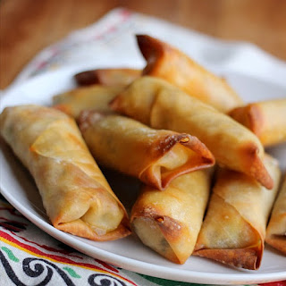 Baked Cheesy Chicken Egg Rolls.