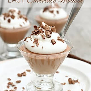 Easy Chocolate Mousse.