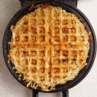 Maple Bacon Hash Brown Waffles.