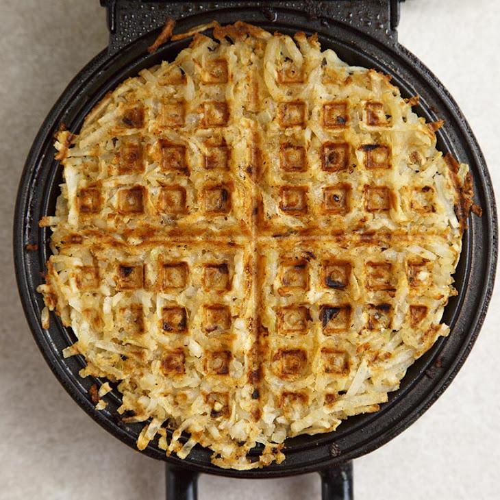Maple Bacon Hash Brown Waffles Recipe
