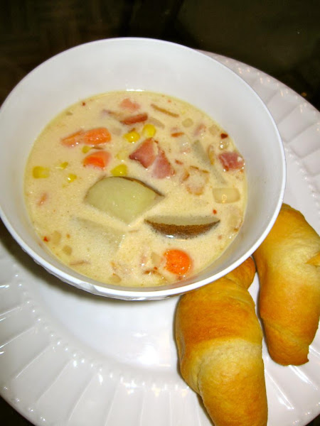 Corn And Baby Carrot Chowder Recipe