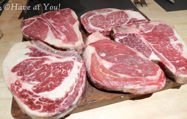 raw meat tray