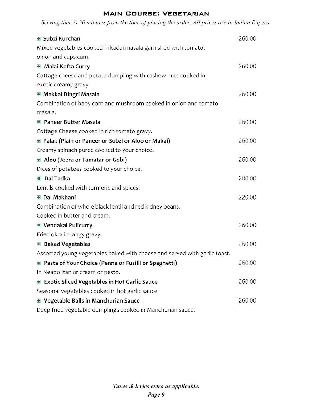 Cafe @ Elanza menu 14