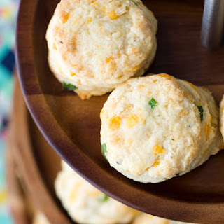 Garlic, Cheddar and Chive Scones