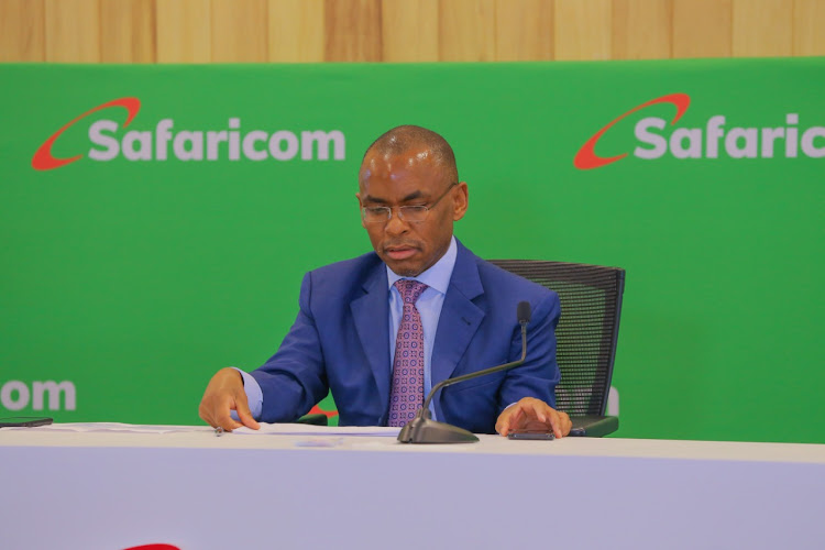 Safaricom CEO Peter Ndegwa speaks during the release of the financial results for the year ended March 31, 2020.