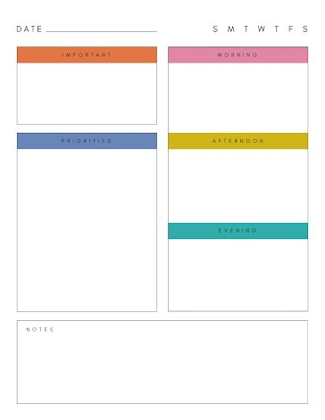 Daily Tasks - Daily Planner template