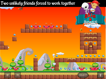 Skin and Bones - platform game- screenshot thumbnail