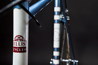 """Photo: Another shot of that white head tube and my """"Made In Wisconsin"""" logo on the seat tube panel."""
