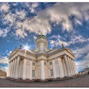 Helsinki Cathedral by Henrik Andersen - Buildings & Architecture Places of Worship ( samyang, fisheye, hdr, 8mm, helsinki, h-l-andersen, cathedral, olympus )