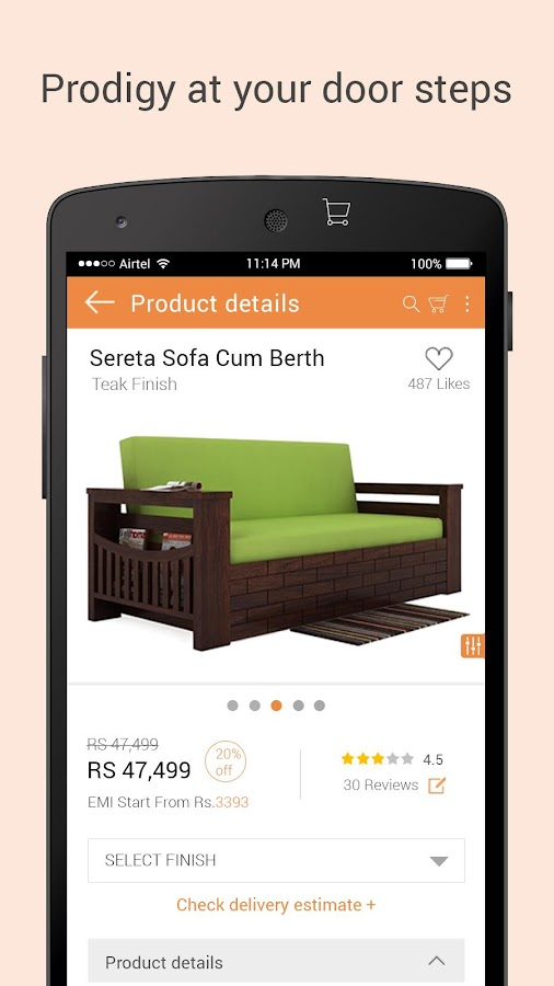 Woodenstreet Furniture Online Android Apps On Google Play
